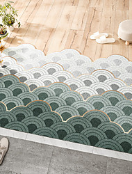 cheap -PVC Non-Slip Floor Mat Entry Mat Can Be Easily Washed Stretch Silk Ring Nordic Style Home Foot Mat Cut Indoor Outdoor