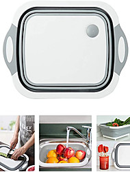 cheap -Folding Cutting Board Multifunctional Collapsible Sink Drain Basket Washable Vegetables Strainer Kitchen Storage Organizer
