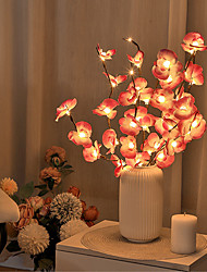 cheap -LED Phalaenopsis Branch Lamp 20 Bulbs Simulation Orchid Branch LED Fairy Lights Willow Twig Light Branch Mother's Day for Home Garden Decoration