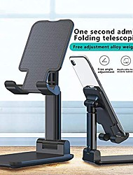 cheap -Foldable Mobile Phone Holder Stand,Retractable Adjustable Phone Holder Cradle with iPhone 12 11 Pro Max X iPad and All Smartphones Adjustable Metal Desk Desktop Tablet Universal Cell Phone Holder