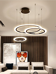 cheap -3-Light 80 cm Circle Design Line Design Geometric Shapes Pendant Light Metal Acrylic Layered Artistic Style Formal Style Painted Finishes Artistic LED 110-240 V