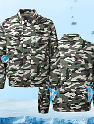 cheap -Summer hiking jacket top outdoor cooling fan jacket men's air-conditioning clothing camouflage coat sun protection wear-resistant construction work clothes