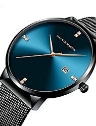 cheap -HANNA MARTIN diamond waterproof student calendar steel band watch with diamond simple men's quartz watch