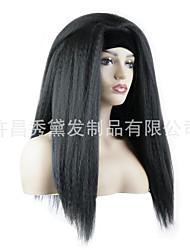 cheap -european and american wig female hair foreign trade chemical fiber yaki turban wig fluffy corn beard straight hair wholesale custom