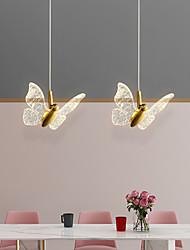 cheap -LED Pendant Light Bedside Light Butterfly Design Modern Nordic 17 cm Single Design Copper Brass 110-240 V