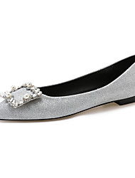 cheap -Women's Flats Flat Heel Pointed Toe Closed Toe Wedding Flats Synthetics Rhinestone Solid Colored Black Pink Gold