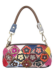 cheap -cross-border new leather handbag factory wholesale, first layer leather hand stitched color shoulder bag, portable small bag