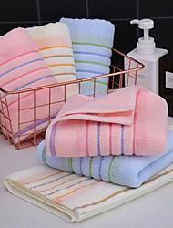 cheap -Striped 100% Cotton Adult Bath Towel Soft Bath Solid Color Face Wash Bathroom Towel Bath Gift Couple Towel 3PCS