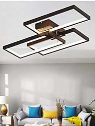 cheap -LED Ceiling Light Square Design Black White Dimmable 60/110 cm Geometric Shapes Flush Mount Lights Aluminum Painted Finishes Artistic 110-120V 220-240V