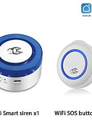 cheap -TUYA WiFi SOS Button Wireless SOS Emergency Button Alarm Home Burglar Alarm Sensor 2.4G Sensor Panic Button Smart Alarm Sensor5.0