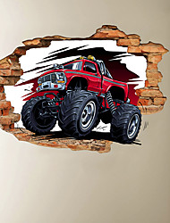 cheap -3D Broken Wall Mountain Bike Home Hallway Background Decoration Can Be Removed Stickers