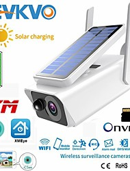 cheap -FHD 3MP Solar Battery WiFi Camera Outdoor IR Night Vision Two-Way Audio PIR Detect Alarm Wireless Rechargeable CCTV IP Camera