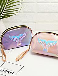 cheap -Symphony Laser Cosmetic Bag Semicircle Bag Large Capacity Travel Cosmetics Small Fresh Storage Bag