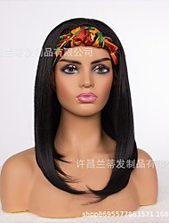 cheap -2021 new foreign trade hair band wigs  wigs female headscarf wig mechanism headgear manufacturer wigs