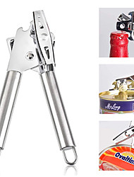 cheap -Can Opener Stainless Steel Chrome Bottle Openers Professional Ergonomic Manual Can Opener Kitchen Tools Bar Accessories
