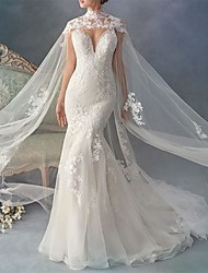 cheap -Sleeveless Voiles & Sheers / Bridal Lace Wedding / Wedding Party Women's Wrap With Embroidery / Appliques
