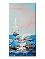 cheap -Mintura Large Size Hand Painted Boat Landscape Oil Painting On Canvas Modern Abstract Art Wall Picture For Home Decoration (Rolled Canvas without Frame)