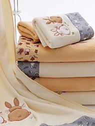 cheap -2PCS Solid Color Animal Print 100% Cotton 140CM*70CM Bathroom Towel Beach Home Hotel Couple Bath Towel