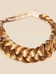 cheap -braided two strand braid fashion wig fresh retro braid two strand wig braid hair band hair band four strand