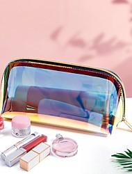 cheap -Laser TPU Cosmetic Bag Portable Shell Storage Bag Colorful Travel Storage Waterproof Toiletry Bag  Make Up Bag