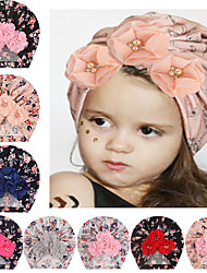 cheap -amazon european and american new children's accessories, baby print four-bead cap, baby print borderless hat