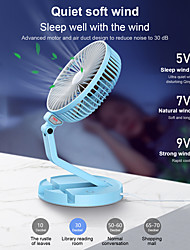 cheap -Mini Folding Fan Table Lamp Portable Desk Fan USB Rechargeable Wall-mounted Cooling Electirc Fan 3 Speed Adjustable