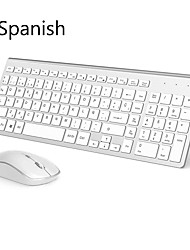 cheap -wireless keyboard and mouse  spanish set 2.4 ghz stable connection for office home travel presentation wireless mouse keyboard