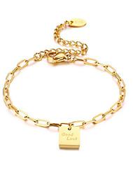 cheap -Women's Bracelet Classic Fashion Fashion Titanium Steel Bracelet Jewelry Gold For Anniversary Party Evening Birthday Festival
