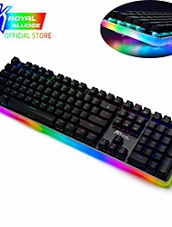 cheap -RK918 USB Wired Mechanical Keyboard Gaming Keyboard Gaming Luminous 104 pcs Keys