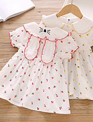 cheap -girls dress summer new style doll collar lace short-sleeved stitching skirt 2-5 years old baby print princess skirt