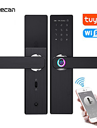 cheap -freecan wifi electronic smart door lock with tuya app, security biometric fingerprint intelligent lock with password rfid