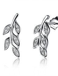 cheap -Women's Cubic Zirconia Earrings Geometrical Fashion Stylish Sterling Silver Earrings Jewelry White For Anniversary Date Birthday Festival 1 Pair