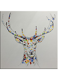 cheap -100% Hand painted By Professional Artist Handmade Abstract Deer Canvas Paintings Oil Painting On Canvas Living Room Home Decor Animal Art