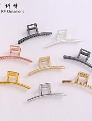 cheap -long strip clip female european and american simple geometric metal hair clip jewelry metal clip vintage alloy side clip headdress