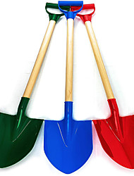 cheap -31 Inch Heavy Duty Wooden Kids Sand Shovels with Plastic Spade & Handle (Red Blue & Green) Complete Gift Set Bundle - 3 Pack
