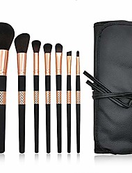 cheap -makeup brush make up brushes 7 pcs professional synthetic lip eyeshadow eyeliner foundation powder cosmetic brushes kit with pu leather bag brush sets (color : black, size : 10x23x4cm)