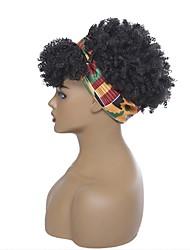 cheap -european and american women's headscarf wig cover chemical fiber headgear short african small volume explosion head