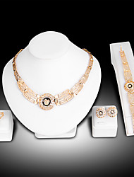 cheap -Women's Bridal Jewelry Sets Geometrical Lion Fashion Gold Plated Earrings Jewelry Gold For Christmas Party Wedding Gift Festival 1 set