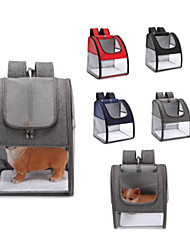 cheap -Dog Cat Pets Carrier Bag Travel Backpack Shoulder Messenger Bag Dog Carrier Backpack Adjustable Portable Breathable Solid Colored Classic Fabric puppy Small Dog Training Outdoor Hiking Black Red Dark