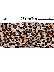 cheap -european and american new leopard print knotted cross headband leopard sports goods antiperspirant yoga headband hair accessories