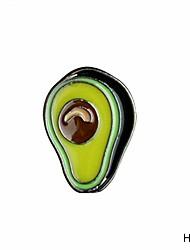 cheap -lessonmart cartoon animal & plant cute monkey peach avocado blueberry metal brooch pins diy button pin denim jacket pin badge gift jewelry