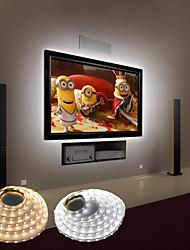 cheap -LED Strip Lights Waterproof 1PC 1M Tiktok Lights Flexible 60 LEDs 2835 SMD 10mm LEDs USB Powered Warm White Cold White Decorative 5 V TV Background Lights