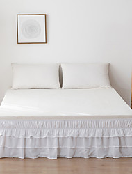 cheap -Basics Ruffled Bed Skirt Dust Ruffle Wrap Around Easy On/Off  And Fit Wrinkle And Fade Resistant Solid Color