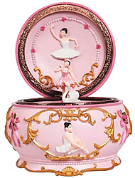 cheap -Music Box Carousel Music Box Ballerina Girl 1 pcs Gift Music & Light Color Changing Resin For Kid's Adults' Boys and Girls