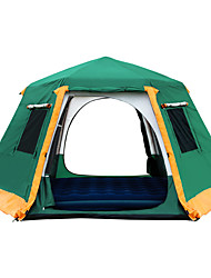 cheap -Shamocamel® 7 person Screen Tent Screen House Outdoor Windproof Rain Waterproof Double Layered Automatic Dome Camping Tent >3000 mm for Camping / Hiking / Caving Terylene Aluminium alloy 368*368*190