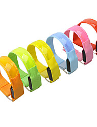 cheap -Reflective Band LED Running Armband Reflective Wristband Outdoor Reflective Trim / Fluorescence Conductive With LED Sporty Buckle Safety Portable Reflective Strip High Visibility for Running Cycling