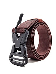 cheap -Belt Men's Military Tactical Belt Wearable Breathable Quick Release for Solid Colored Nylon Fall Spring Summer