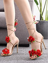cheap -Women's Heels Pumps Satin Flower Solid Colored Almond