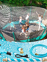 cheap -Trampoline Sprinkler, Trampoline Water Sprinkler for Kids, Outdoor Backyard Toys Water Park Spin Adjustable Water Sprinkler Fun Summer Toys for Kids