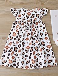 cheap -ebay amazon ins summer new children's dress girls dress leopard print little flying sleeve princess dress